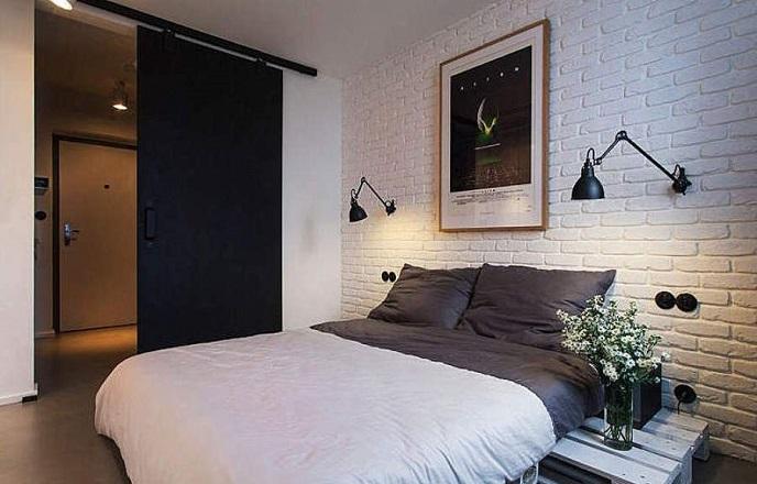 Спальня из кирпича